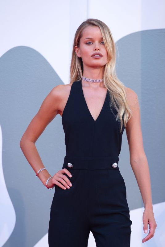Frida Aasen At The World To Come Red Carpet at The 77th Venice Film Festival