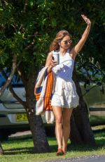 Gabriella Brooks In Tank top and skirt out in Byron Bay