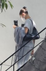 Hailey Bieber Arriving at a local studio in Beverly Hills