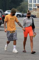 Hailey Bieber & Justin Bieber As they head to Pilates sesh in Beverly Hills