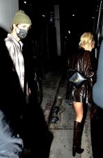 Hailey Bieber & Justin Bieber Enjoy a date night at Catch in West Hollywood