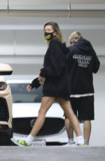 Hailey Bieber & Justin Bieber Leave a chiropractor appointment in Beverly Hills