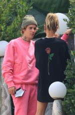 Hailey Bieber & Justin Bieber Visiting a friend in West Hollywood