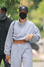 Hailey Bieber & Justine Skye Heading into Zinque Cafe for lunch after their workout in West Hollywood