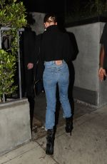 Hailey Bieber Out for dinner with her Stylist Maeve in Los Angeles