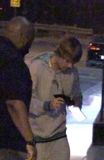 Hailey & Justin Bieber At Boa Steakhouse in West Hollywood