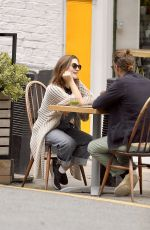 Holliday Grainger and boyfriend Harry Treadaway spotted as they eat out in London