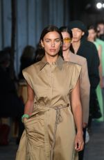 Irina Shayk Takes to the runway at the Hugo Boss fashion show during the Milan Women