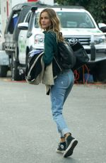 Isabel Lucas On the set of a film in Byron Bay in New South Wales