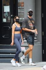 Jacob Elordi - & Kaia Gerber Heading to the gym for a workout in New York