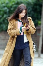 Jenna Coleman Moving out of her house in London