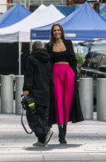 Josephine Skriver Films a new campaign for Maybelline on the streets of New York