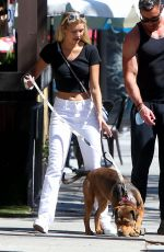 Josie Canseco Walking her dog in LA