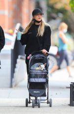 Kaley Cuoco Taking her dog Dumpy for a stroll in NYC