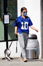 Kate Mara Out with her dog in Los Angeles
