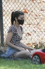 Kate Mara Playing at a local park in Los Angeles