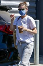 Kate Mara Takes her daughter along for a mid-day coffee run in Los Angeles