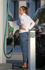 Katharine McPhee Seen at a Gas Station in Montecito