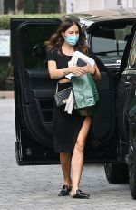 Katharine McPhee Shows some leg as she arrives at a hotel in Los Angeles