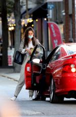 Katie Holmes And boyfriend Emilio Vitolo walk hand-in-hand as they go for a joyride in his red Pontiac in New York