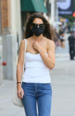 Katie Holmes Keeps cool while out running a few errands in SoHo