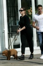Kelly Brook And her boyfriend Jeremy Parisi enjoy a spot of lunch and walk their pet pooch out in Hampstead