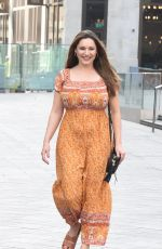 Kelly Brook Pictured arriving at the Global Radio studios for her Heart radio show in London