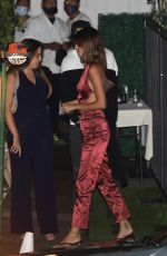 Kendall Jenner In a silk red two piece fit while on a date with Devin Booker in Santa Monica