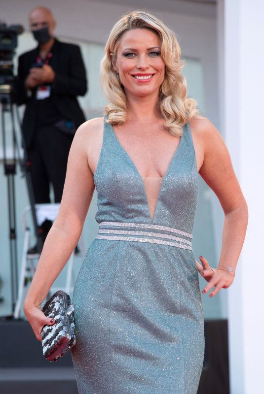 Kiera Chaplin Attending the Padrenostro Premiere as part of the 77th Venice Film Festival in Venice