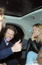 Kimberley Garner Enjoys a fun night out with a few male friends in London