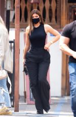 Kylie Jenner Displayed her incredibly trim waist as stepped out to enjoy her favorite Mexican spot, Sagebrush Cantina in Calabasas