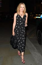 Kylie Minogue Channels her inner pretty woman with a polka dot dress as she enjoys a night out at The Ritz Hotel in London