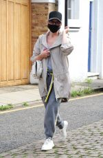 Kylie Minogue Looks sporty in her grey top out in London