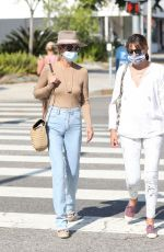 Laeticia Hallyday Goes Braless For Day Out With A Gal Pal