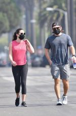 Lea Michele Out for a walk in Brentwood