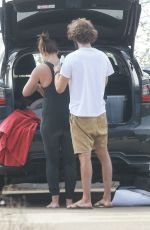 Leighton Meester Seen surfing with her husband in Malibu