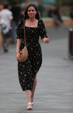 Lilah Parsons At Heart radio in floral maxi dress in London