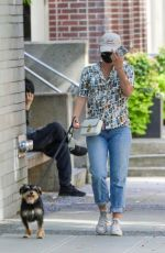 Lili Reinhart Out to take her dog in Vancouver