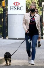 Lili Reinhart Out walking her dog in Vancouver