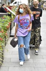 Little Mix Arriving at the Global Radio Studios in Central London