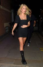 Lottie Moss In Short dress outside Stanley