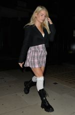 Lottie Moss Leaves The Chiltern Firehouse dressed in a school girl outfit in London