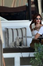 Lucy Hale Shows her new hair color at Sweet Butter in Sherman Oaks