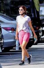Lucy Hale Steps out for a hike in Los Angeles