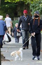 Madelaine Petsch Takes Olive out for a walk in Vancouver