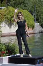 Maria Leitner Arrives to Hotel Excelsior as part of the 77th Mostra del Cinema in Venice