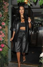 Maya Jama Leaving The Ivy Garden restaurant in Chelsea