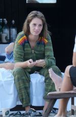 Maya Thurman Hawke Chills out with a friend before taking a dip in the sea in her lingerie at the beach in Venice