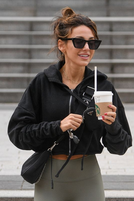 Michelle Keegan Arriving At Gym in Manchester