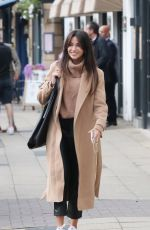 Michelle Keegan At Victors Eatery in Hale Village, Cheshire